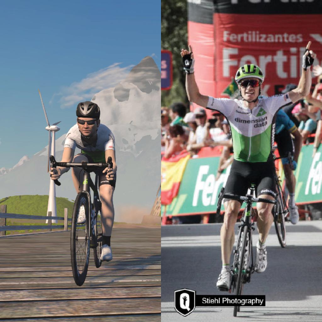 Ben King ha vinto una tappa alla Vuelta grazie a Zwift