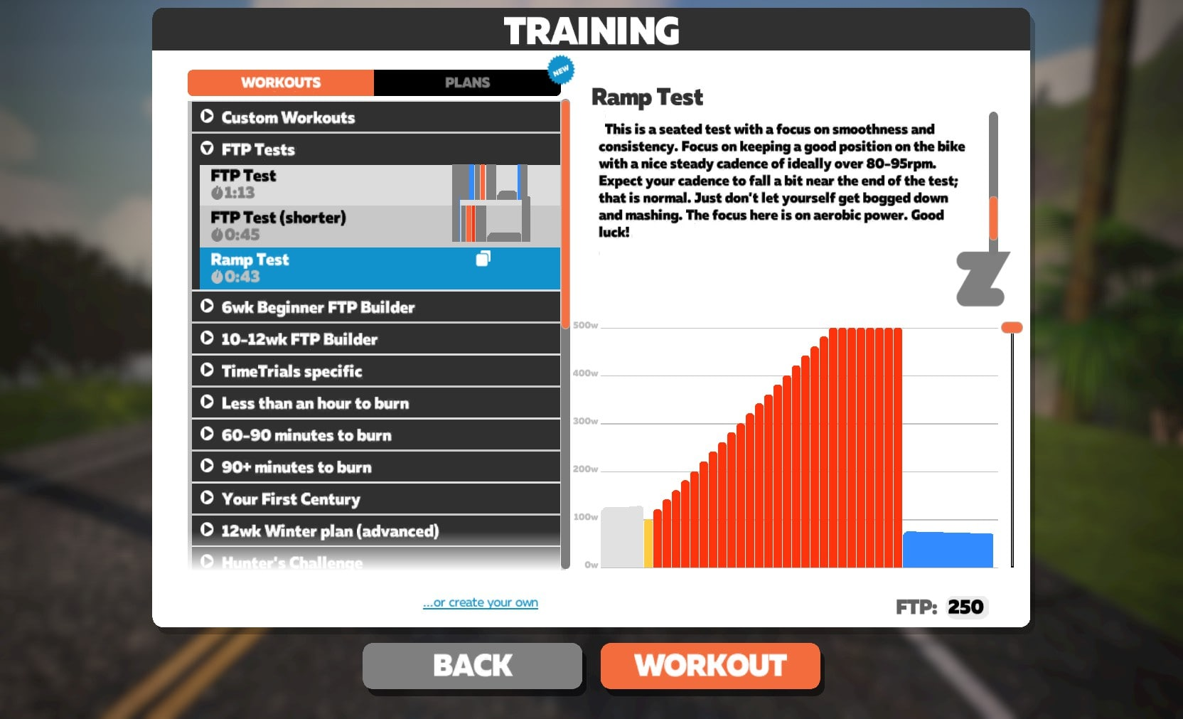 Il nuovo test FTP incrementale di Zwift