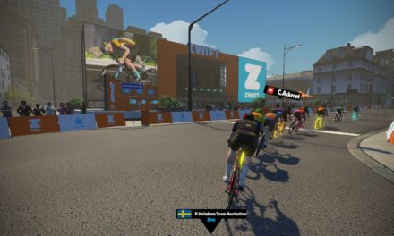 La scia in Zwift