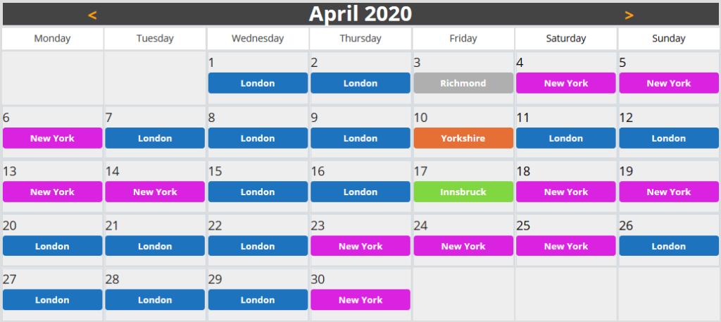 calendario guest world zwift aprile 2020