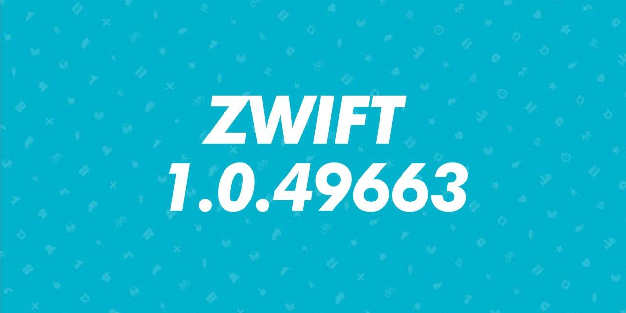 Aggiornamento Zwift 1.0.49663