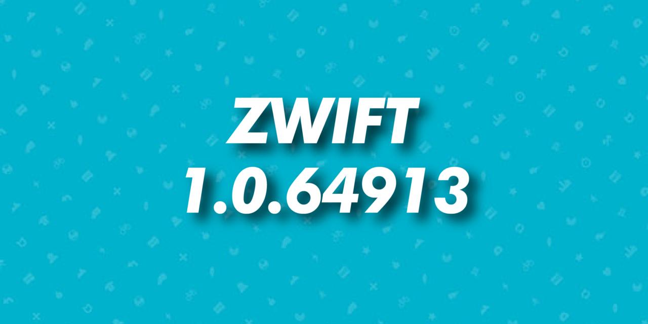 Aggiornamento zwift 1.0.64913